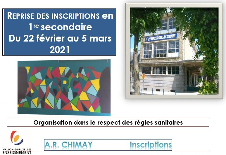 Reprise inscriptions